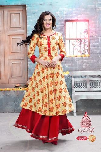 Kajal Style Long Designer Kurtis