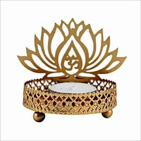 Metal Tea Light Holder Om Ji