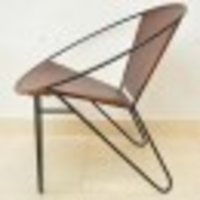 Upholstered Butterfly Legs Leather Accent Chair