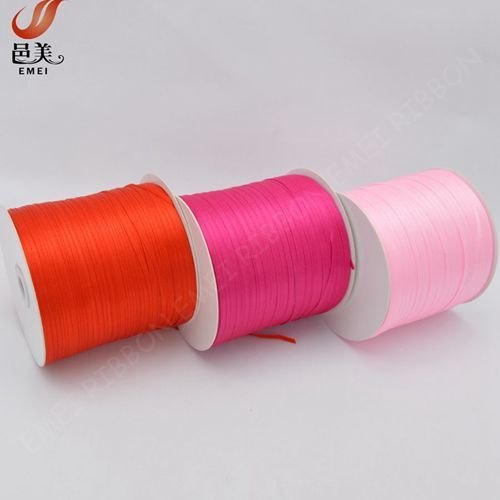 """1/8"""" inch soild color polyester satin ribbon for gift packing"""