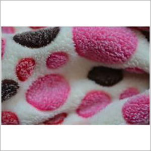 Burn-Out Coral Fleece Fabric