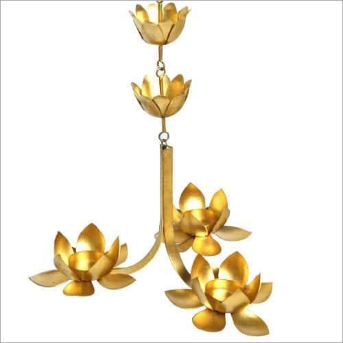 Metal Lotus Hanging Candle Holder