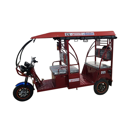 Red Electric Rickshaw
