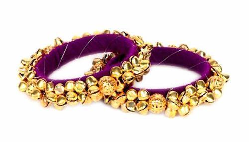 Ambika Designs Purple Jewellery Ghungroo Bangle Set for Girls And Women