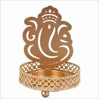 Metal Tea Light Holder Ganesh
