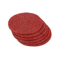 Beaded Round Coasters Set