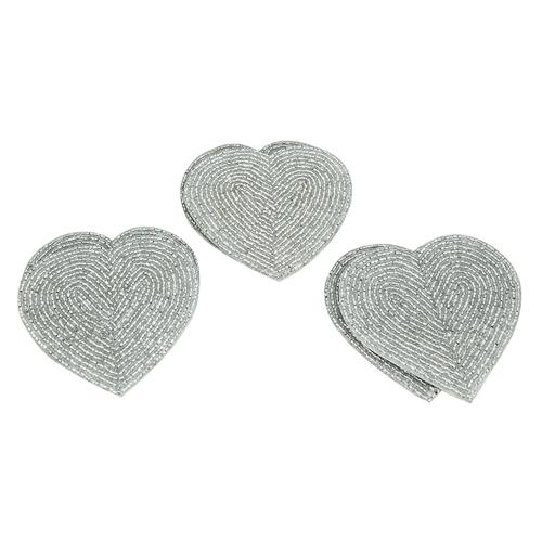 Heart Shape Beaded Coaster Set