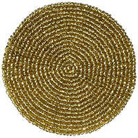 Indian Gold Beaded Tea Coasters
