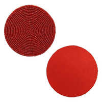 Red Beaded Tea Coasters