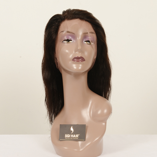 Temple Remy Human Hair Full Lace Wig - stright
