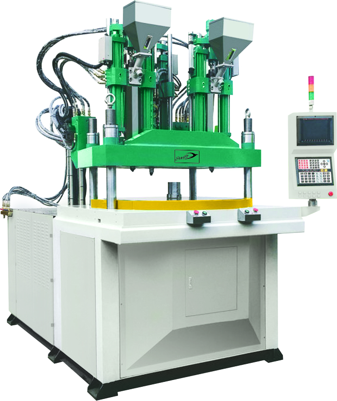 Two Color Rotary Type Vertical Injection Molding Machine