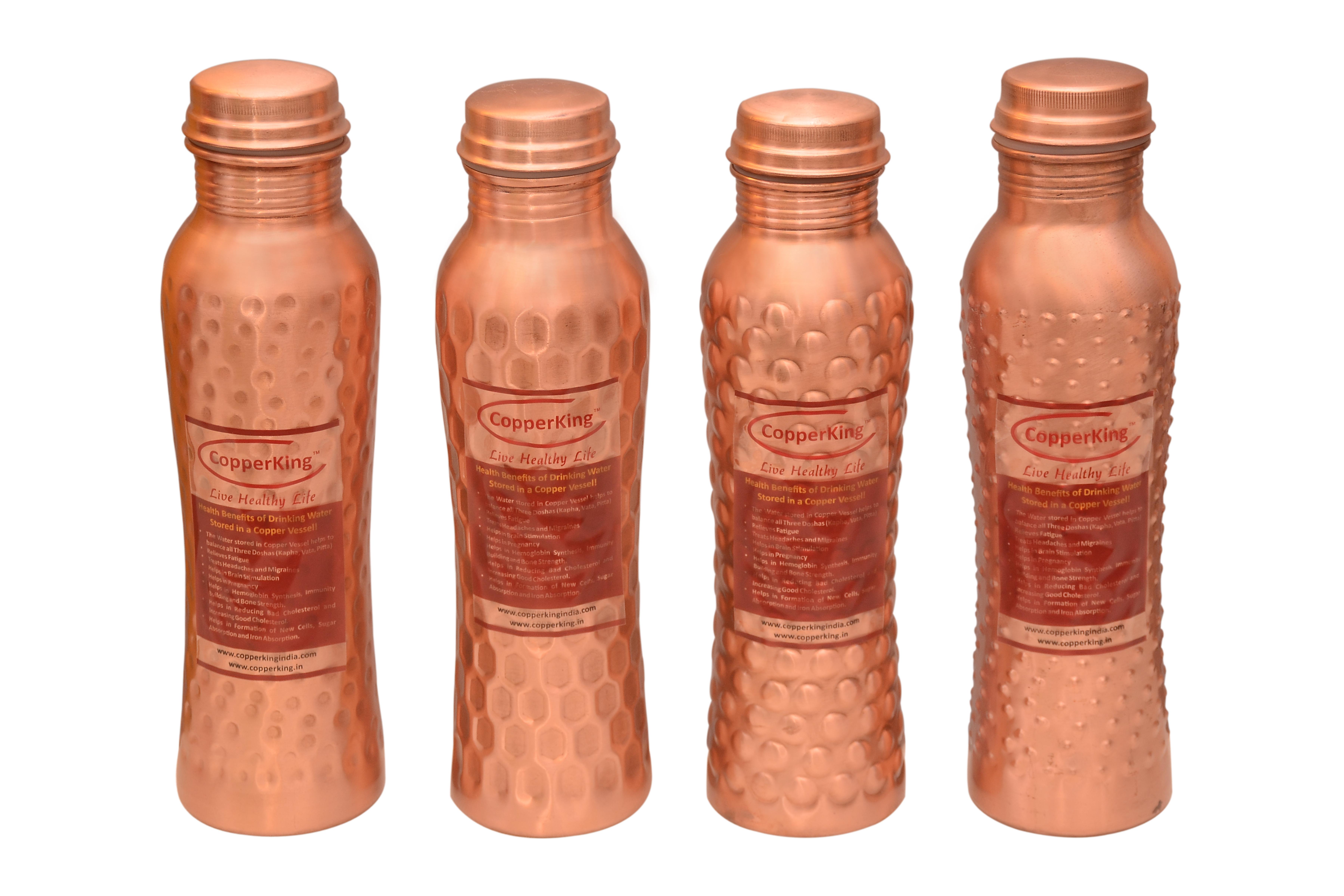 Curvy Copper Hammered Bottle