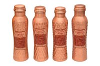 Curvy Copper Hammered Bottle