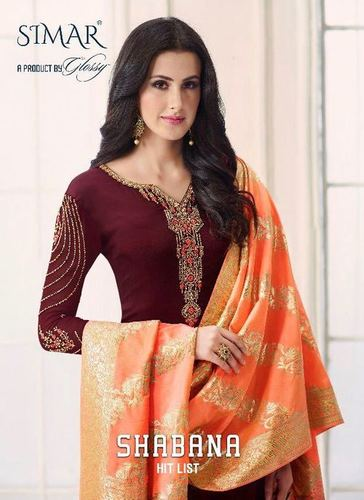 Straight Salwar Kameez (Glossy)