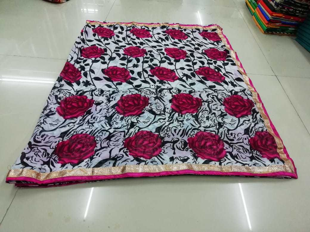 Fancy Geogette Printed Saree