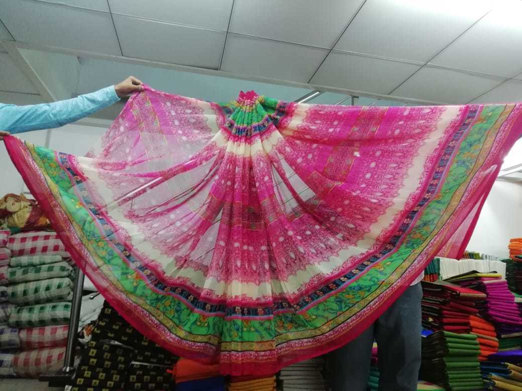 Printed Synthetic Saree