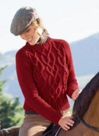 Ladies Red Sweater