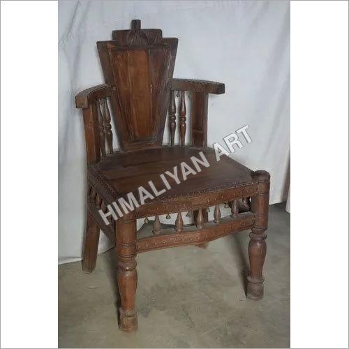 High Back Wooden Chair