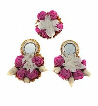 Flower Gotta Handmade Earring, Ring For Women & Girls