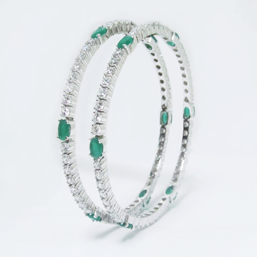 Silver Designer Bangle