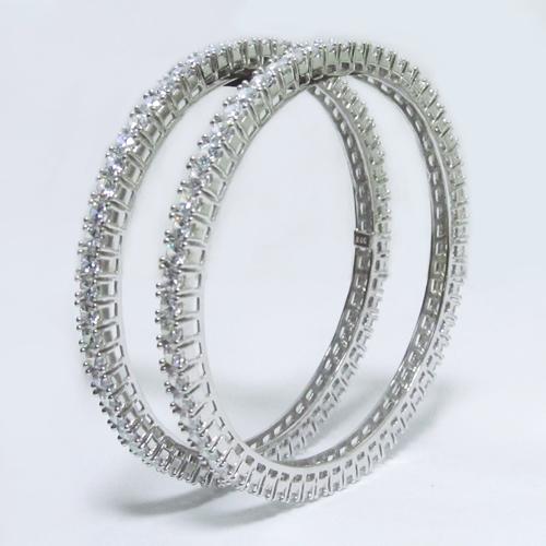 Silver Fancy  Bangles