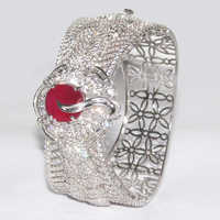 Ladies Silver Bangle