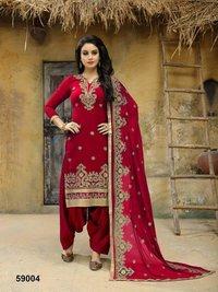 Embroidered Punjabi Suit