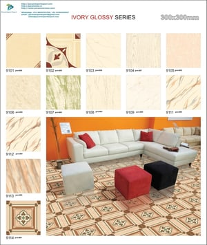 IVORY GLOSSY TILES