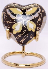 Heart Keepsake Cremation Urn / Brass Keepsake Urn
