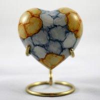 Heart Keepsake Cremation Urn / Brass Keepsake Urn
