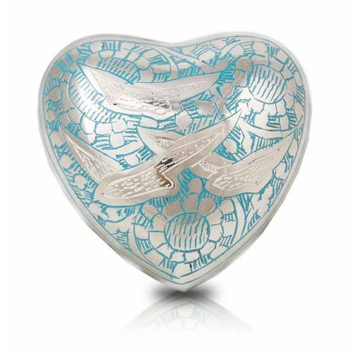 Brass Heart Keepsake Cremation Urn