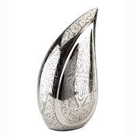 Silver Tear Drop Brass Cremation Urn