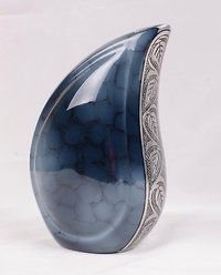 Tear Drop Aluminum Cremation Urn For Ashes