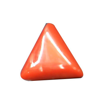 10 Carats Triangle Coral Stone