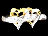 HEART SHAPES DIAMOND RING