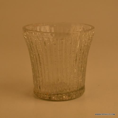 CUTTING GLASS T LIGHT CANDLE VOTIVE
