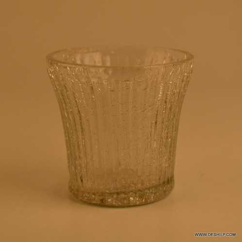 CUTTING GLASS T LIGHT CANDLE VOTIVE