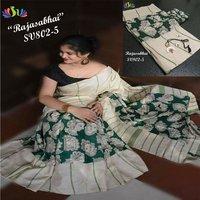 Handloom Linen Saree