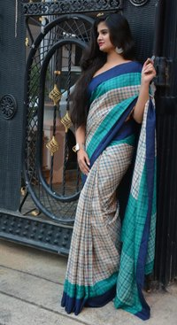 Designer Handloom Linen Saree