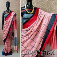 Pure Linen Ladies Saree
