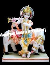 Pure Marble Krishna Statue