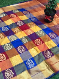 Kanchipuram Spun Silk Woven Saree