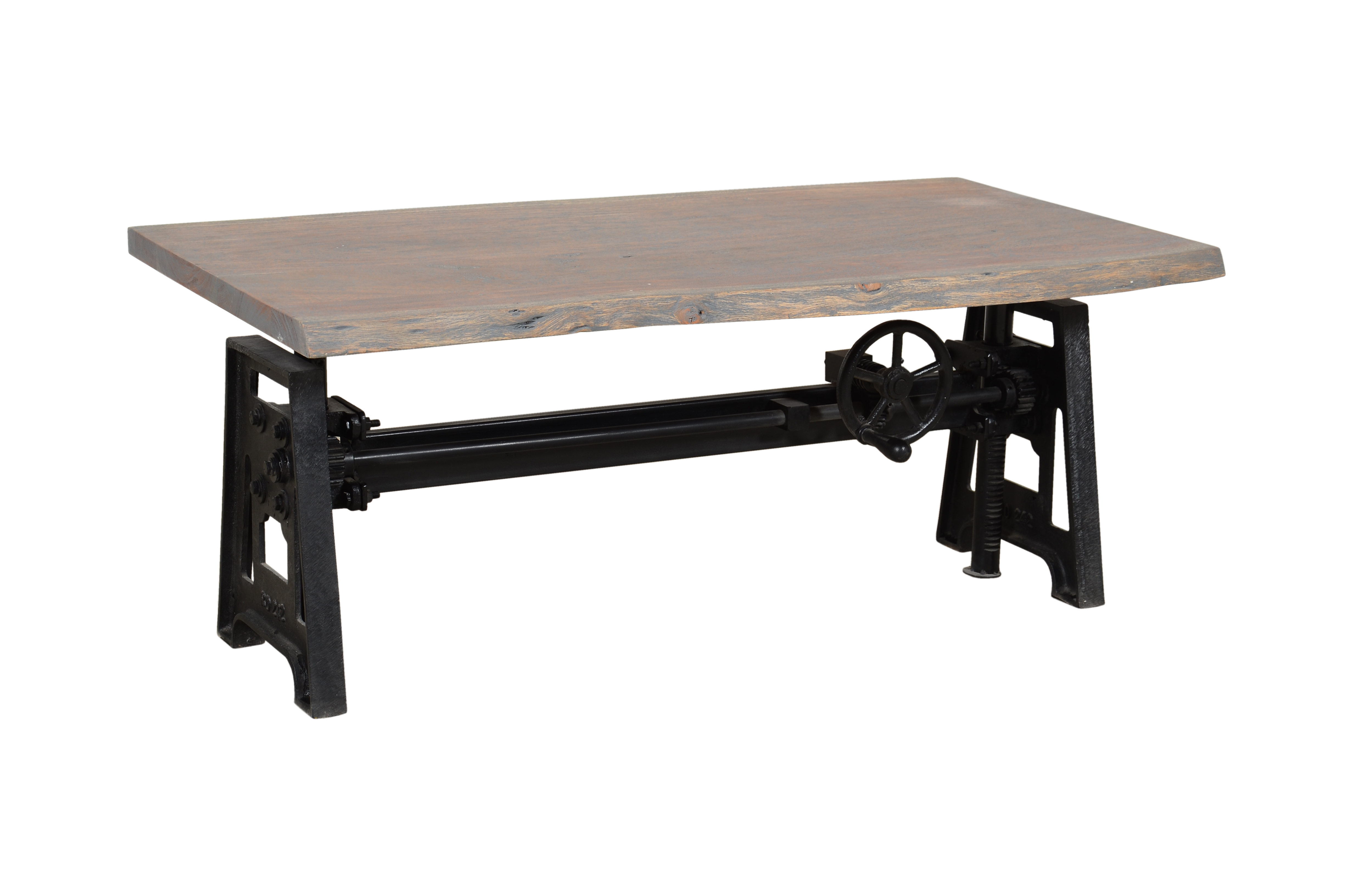 Wrought Iron Dining Table With Wooden Top