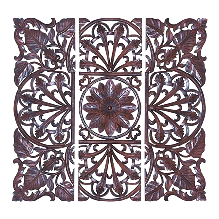 Small Carved Wood Wall Panel