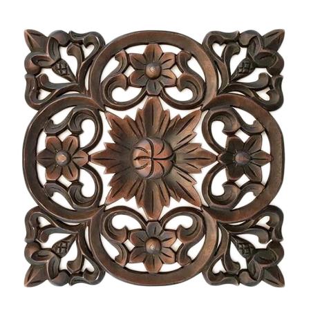 Floral Wood Decor Wall Art Panel