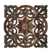 Floral Wood Decor Wall Art Panel