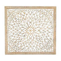 Decorative Carved Wood Wall Art Panel