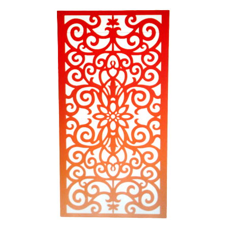 Floral Tropical Wood Carved Wall Art