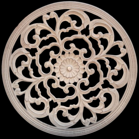 Elegant Carved Wood Wall Art Panel