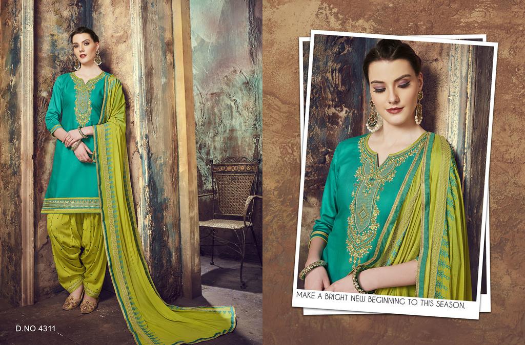 Fancy Work Punjabi Suits